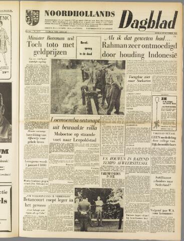 Noordhollands Dagblad : dagblad voor Alkmaar en omgeving 1960-11-29