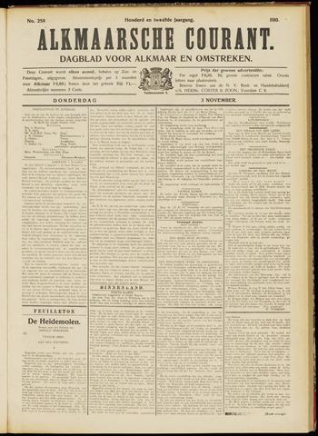Alkmaarsche Courant 1910-11-03
