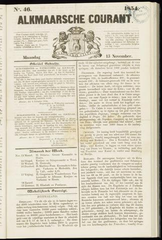 Alkmaarsche Courant 1854-11-13
