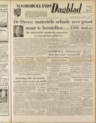 Noordhollands Dagblad : dagblad voor Alkmaar en omgeving 1953-02-10