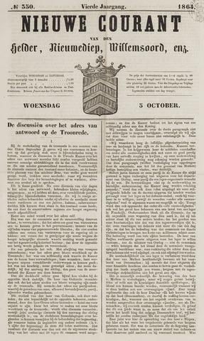Nieuwe Courant van Den Helder 1864-10-05