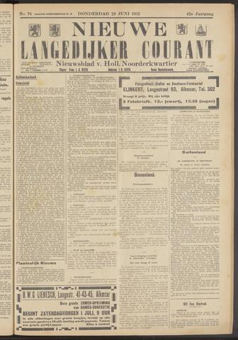 Nieuwe Langedijker Courant 1933-06-29