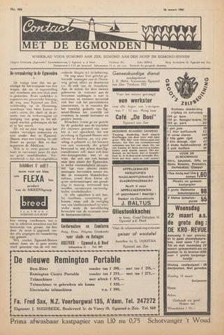 Contact met de Egmonden 1961-03-16