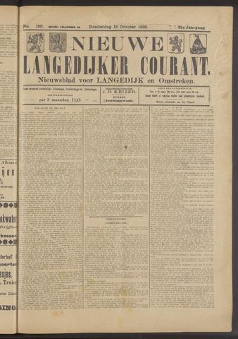 Nieuwe Langedijker Courant 1922-10-19