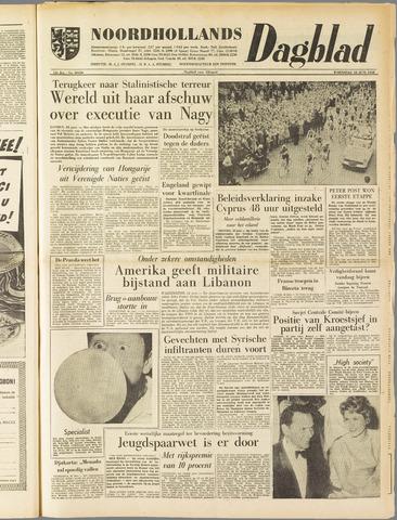 Noordhollands Dagblad : dagblad voor Alkmaar en omgeving 1958-06-18
