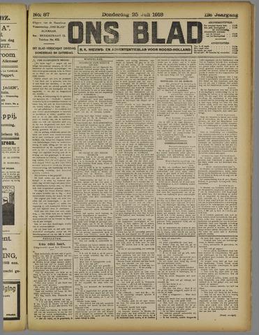 Ons Blad : katholiek nieuwsblad voor N-H 1918-07-25