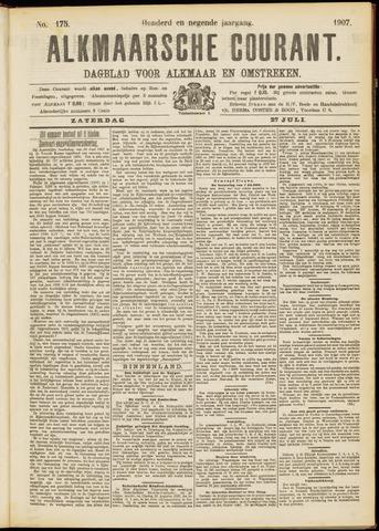 Alkmaarsche Courant 1907-07-27
