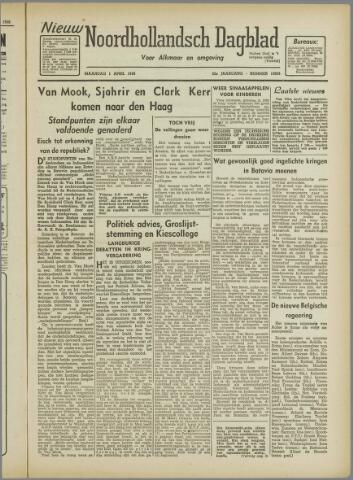 Nieuw Noordhollandsch Dagblad : voor Alkmaar en omgeving 1946-04-01