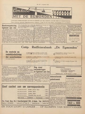 Contact met de Egmonden 1965-01-14