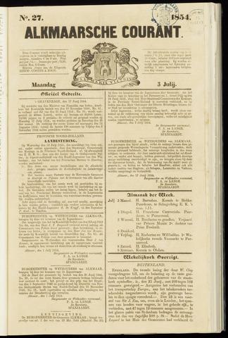 Alkmaarsche Courant 1854-07-03