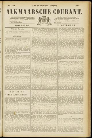 Alkmaarsche Courant 1882-11-22