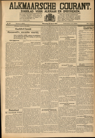 Alkmaarsche Courant 1934-04-16