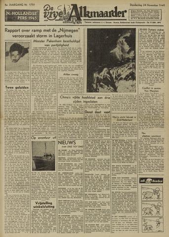 De Vrije Alkmaarder 1949-11-24