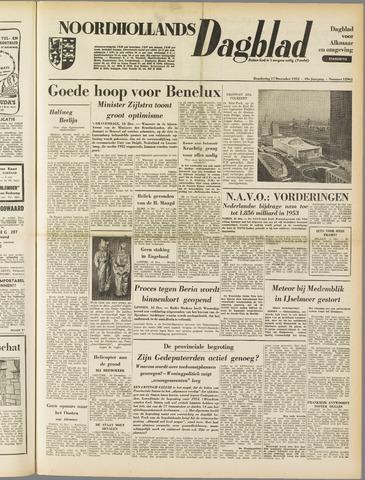 Noordhollands Dagblad : dagblad voor Alkmaar en omgeving 1953-12-17