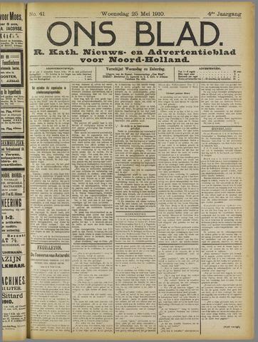 Ons Blad : katholiek nieuwsblad voor N-H 1910-05-25