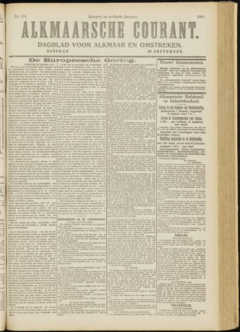 Alkmaarsche Courant 1914-09-22