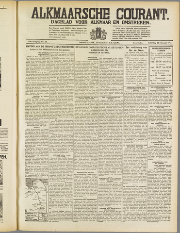 Alkmaarsche Courant 1941-02-22