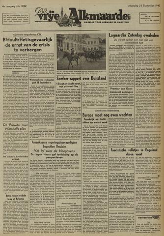 De Vrije Alkmaarder 1947-09-22