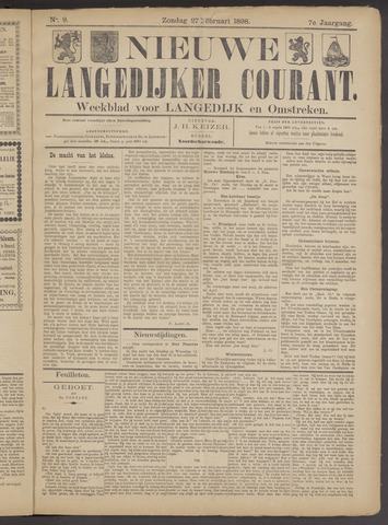 Nieuwe Langedijker Courant 1898-02-27