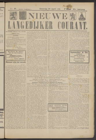 Nieuwe Langedijker Courant 1921-04-30