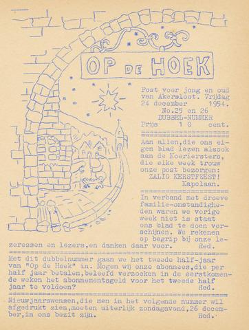 Op De Hoek, weekblad voor Akersloot 1954-12-24