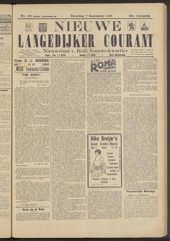 Nieuwe Langedijker Courant 1929-09-07