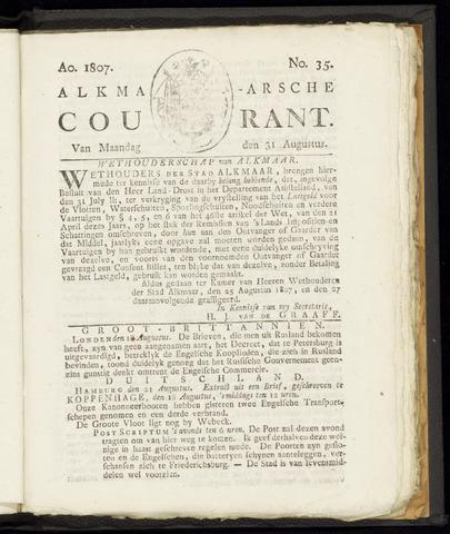Alkmaarsche Courant 1807-08-31