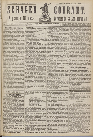 Schager Courant 1920-08-10