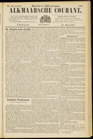 Alkmaarsche Courant 1903-03-20