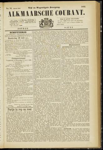 Alkmaarsche Courant 1893-07-09