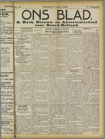 Ons Blad : katholiek nieuwsblad voor N-H 1909-04-17