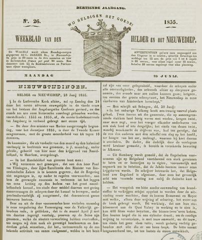 Weekblad van Den Helder en het Nieuwediep 1855-06-25