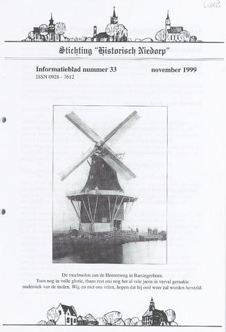 Informatieblad stichting Historisch Niedorp 1999-11-01