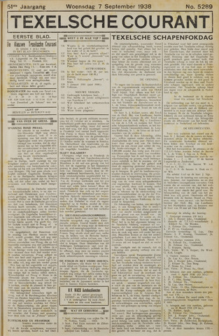 Texelsche Courant 1938-09-07