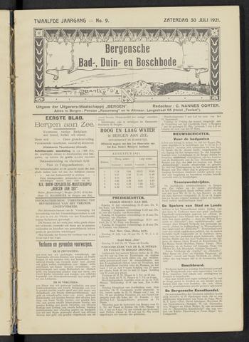 Bergensche bad-, duin- en boschbode 1921-07-30