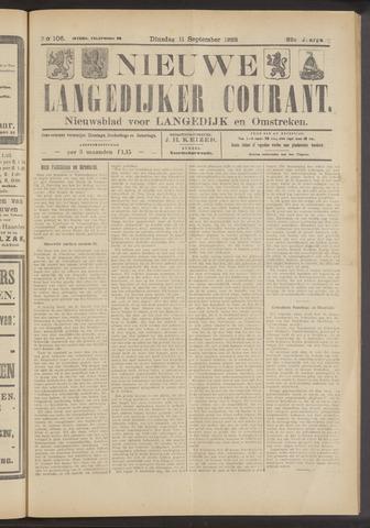 Nieuwe Langedijker Courant 1923-09-11