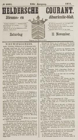 Heldersche Courant 1871-11-11
