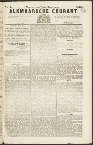 Alkmaarsche Courant 1869-01-10