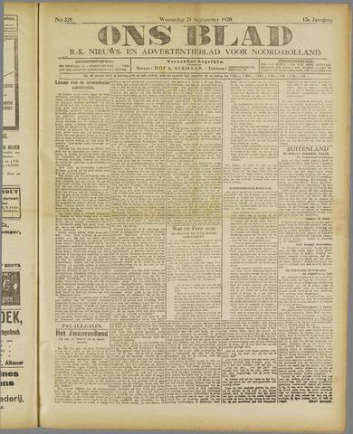 Ons Blad : katholiek nieuwsblad voor N-H 1920-09-29