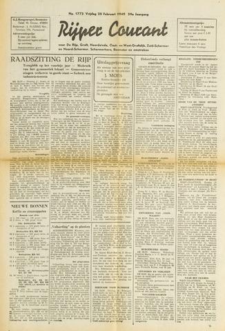 Rijper Courant 1949-02-25