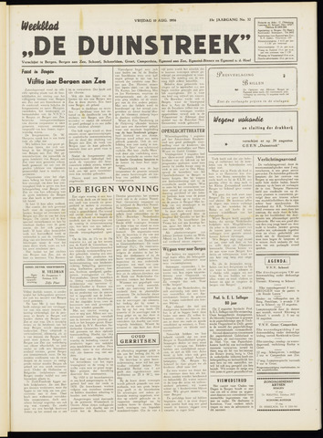 De Duinstreek 1956-08-10