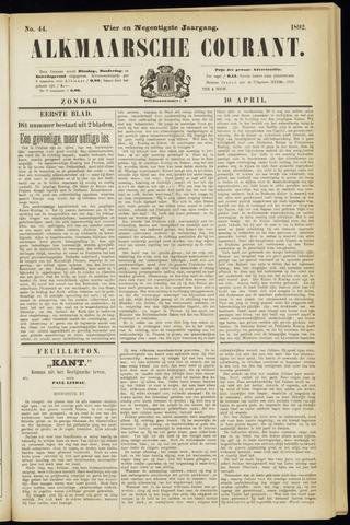 Alkmaarsche Courant 1892-04-10