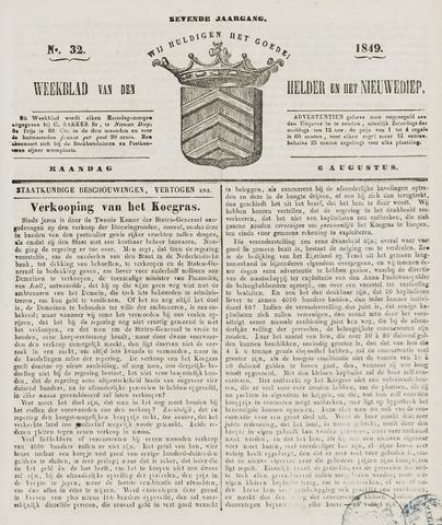 Weekblad van Den Helder en het Nieuwediep 1849-08-06
