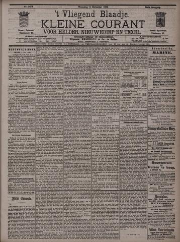 Vliegend blaadje : nieuws- en advertentiebode voor Den Helder 1896-11-04