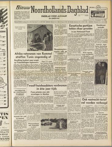 Nieuw Noordhollandsch Dagblad : voor Alkmaar en omgeving 1952-02-02