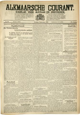 Alkmaarsche Courant 1933-09-01