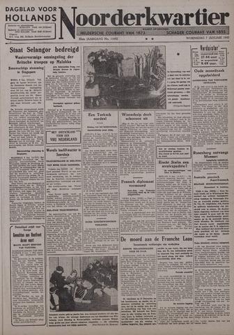 Dagblad voor Hollands Noorderkwartier 1942-01-07