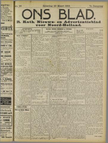 Ons Blad : katholiek nieuwsblad voor N-H 1913-03-29
