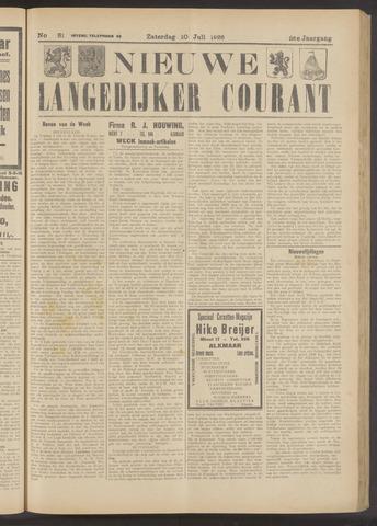 Nieuwe Langedijker Courant 1926-07-10
