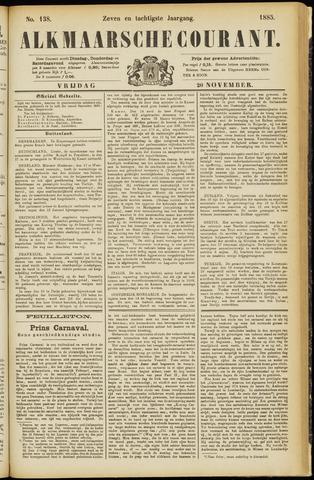 Alkmaarsche Courant 1885-11-20